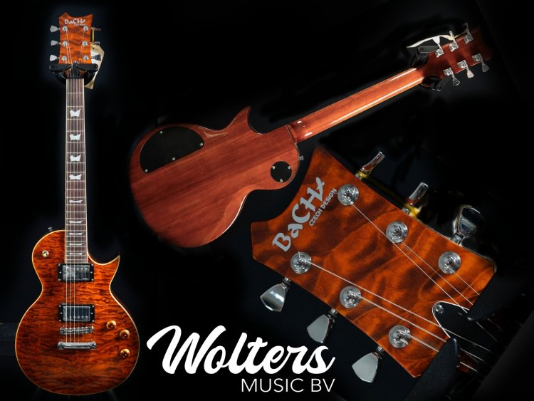 Bach Les Paul Dark Y Quilted Maple