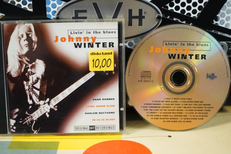 Johnny Winter - Livin' in the Blues WB 886012  Made in Holland 1998