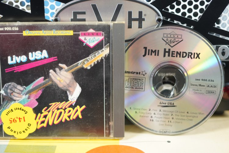 Jimi Hendrix -   Live USA.  int 900.036   Made in Germany
