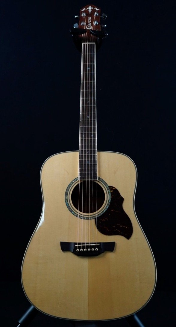 Crafter D8/N naturel akoestische western gitaar