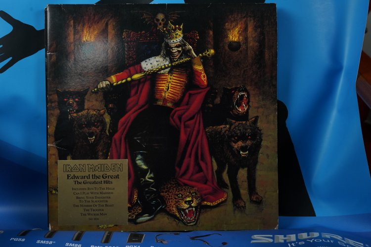 Iron Maiden Edward The Great EU Double Picture Vinyl LP NWOBHM