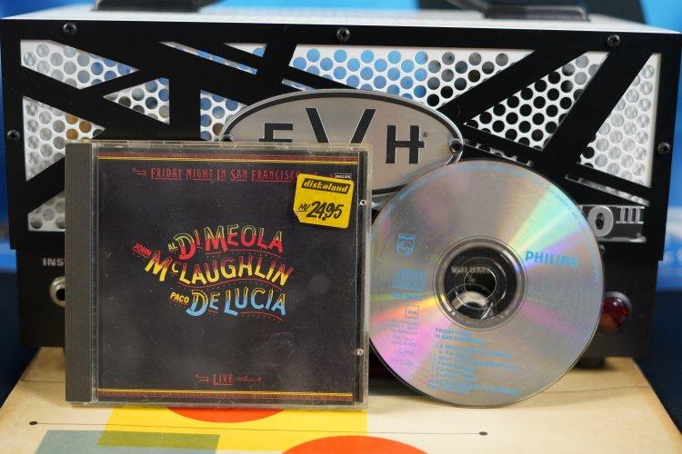 Di Meola - Mc Laughlin - De Lucia - Live in San Francisco 800047-2 Made in the Netherlands 1981